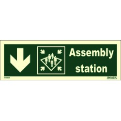 ASSEMBLY STATION DOWN LEFT  (10x30cm) Phot.Vin. IMO sign 114328