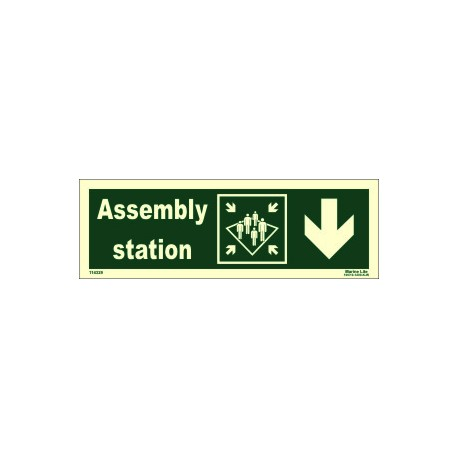 ASSEMBLY STATION DOWN RIGHT  (10x30cm) Phot.Vin. IMO sign 114329