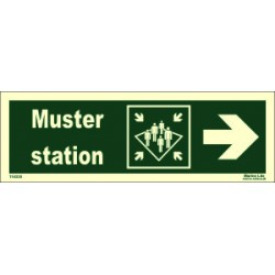 MUSTER STATION SIDE RIGHT  (10x30cm) Phot.Vin. IMO sign 114335