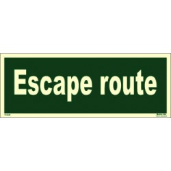 ESCAPE ROUTE  (10x30cm) Phot.Vin. IMO sign 114340