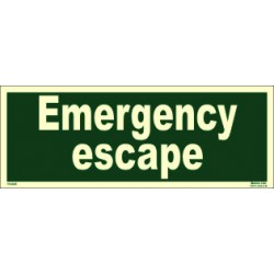 EMERGENCY ESCAPE  (15x40cm) Phot.Vin. IMO sign 114345