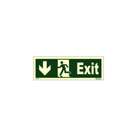 EXIT/RUN LEFT /ARROW LEFT DOWN  (10x30cm) Phot.Vin. IMO sign 114408