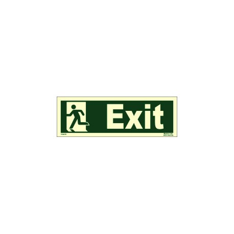 EXIT MAN LEFT  (10x30cm) Phot.Vin. IMO sign 114410