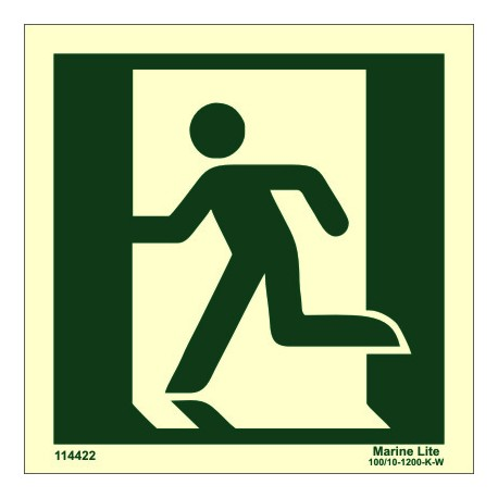 EXIT MAN LEFT  (15x15cm) Phot.Vin. IMO sign 114422 / MES002