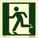 EXIT MAN LEFT  (15x15cm) Phot.Vin. IMO sign 114422