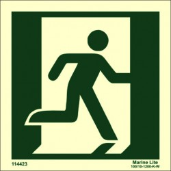 EXIT MAN RIGHT  (15x15cm) Phot.Vin. IMO sign 114423 / MES003