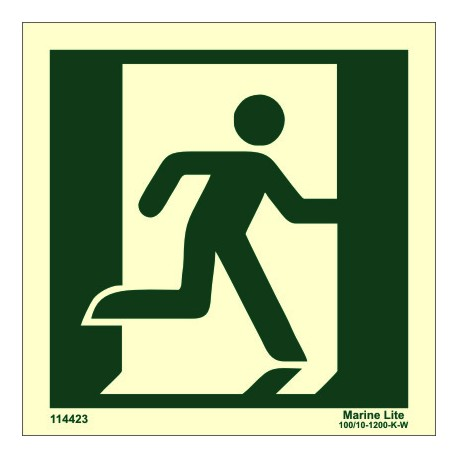 EXIT MAN RIGHT  (15x15cm) Phot.Vin. IMO sign 114423