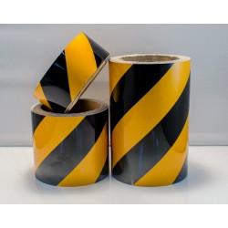 HAZARD WARNING REFLECTIVE TAPE  (10cmx10m)  121192