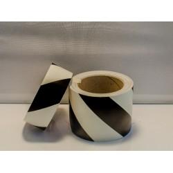 BLACK DIAGONAL TAPE (4cmx10m) Phot.Vin. IMO sign 122044