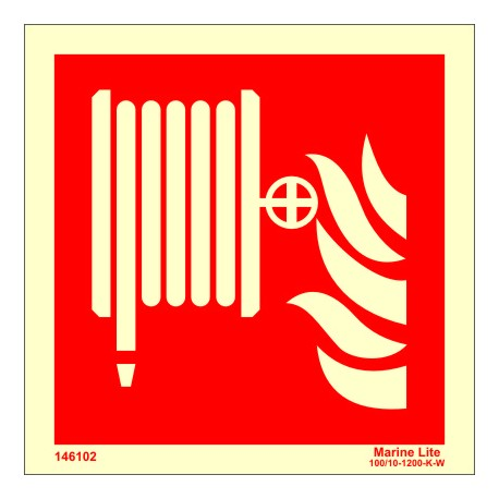 FIRE HOSE REEL  (15x15cm) Phot.Vin. IMO sign 146102 / FES002