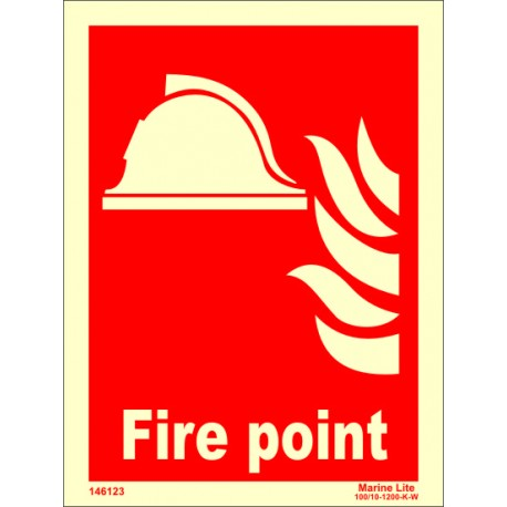 FIRE POINT   (15x20cm) Phot.Vin. IMO sign 146123