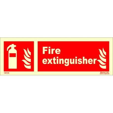 FIRE EXTINGUISHER  (10x30cm) Phot.Vin. IMO sign 146140