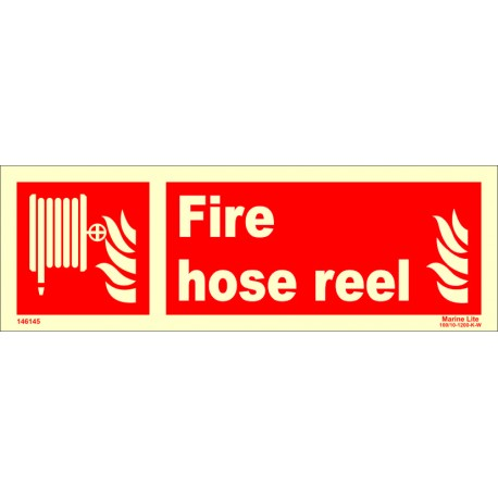 FIRE HOSE REEL  (10x30cm) Phot.Vin. IMO sign 146145