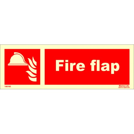 FIRE FLAP  (10x30cm) Phot.Vin. IMO sign 146160