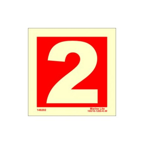 NUMBER 2  (15x15cm) Phot.Vin. IMO sign 146252