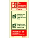 FIRE EXTINGUISHER FOAM  (20x10cm) Phot.Vin. IMO sign 146431