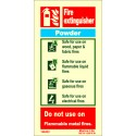 FIRE EXTINGUISHER POWDER  (20x10cm) Phot.Vin. IMO sign 146432