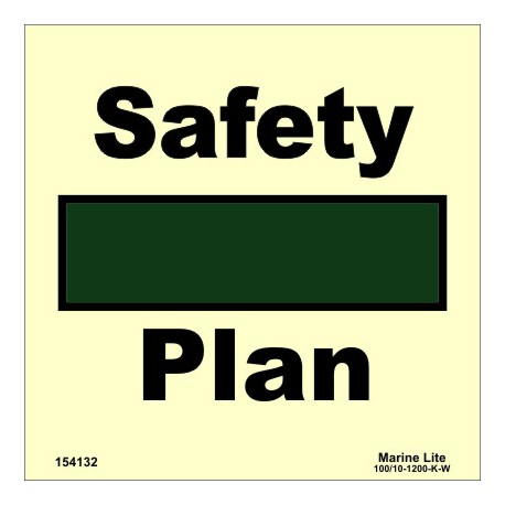 SAFETY PLAN  (15x15cm) Phot.Vin. IMO sign 154132 / SIS002