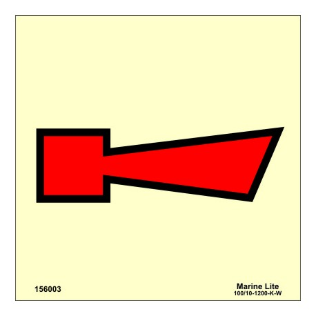 HORN FIRE ALARM  (15x15cm) Phot.Vin. IMO sign 156003
