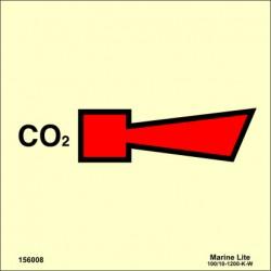 Señal IMO SIRENA DE CO2 (15x15cm) vinilo fotoluminiscente 156008