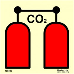 CO2 RELEASE STATION  (15x15cm) Phot.Vin. IMO sign 156009