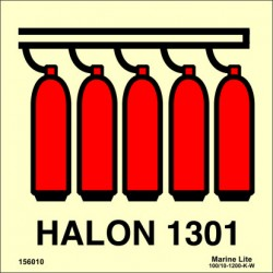 HALON 1301 BATTERY  (15x15cm) Phot.Vin. IMO sign 156010