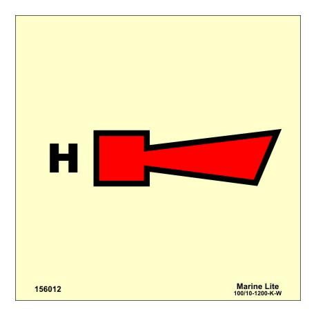 Señal IMO SIRENA DE HALON (15x15cm) vinilo fotoluminiscente 156012