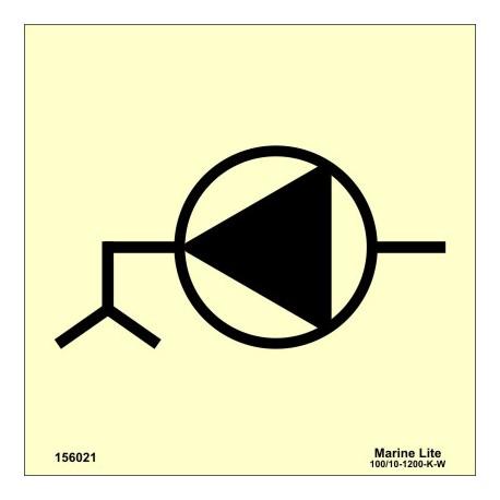 Señal IMO BOMBA DE PANTOQUE (15x15cm) vinilo fotoluminiscente 156021