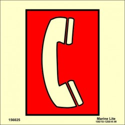 EMERGENCY TELEPHONE STATION  (15x15cm) Phot.Vin. IMO sign 156025