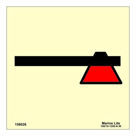 Señal IMO HACHA DE EMERGENCIA (15x15cm) vinilo fotoluminiscente 156026