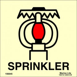 SPACE PROTECTED BY SPRINKLER  (15x15cm) Phot.Vin. IMO sign 156045