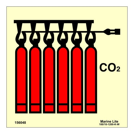CO2 BATTERY  (15x15cm) Phot.Vin. IMO sign 156048