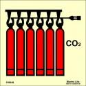 Señal IMO BATERÍA DE CO2 (15x15cm) vinilo fotoluminiscente 156048