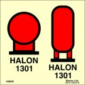 HALON 1301 BOTTLES IN PROTECTED AREA  (15x15cm) Phot.Vin. IMO sign 156050