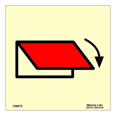 Señal IMO SISTEMA DE CIERRE DE VENTILACIÓN EXTERIOR (15x15cm) vinilo fotoluminiscente 156072