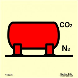 CO2 / NITROGEN BULK INSTALLATION  (15x15cm) Phot.Vin. IMO sign 156075