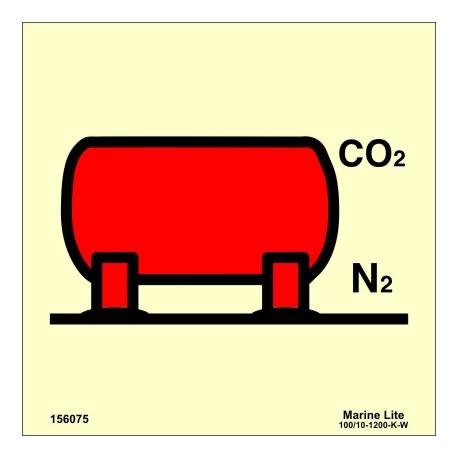 Señal IMO INSTALACIÓN DE DEPÓSITO CO2/NITRÓGENO (15x15cm) vinilo fotoluminiscente 156075