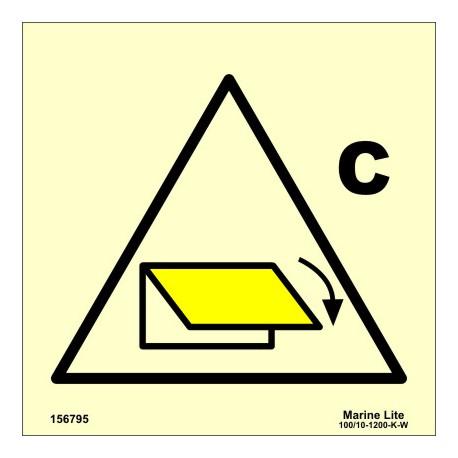 Señal IMO CONTROL REMOTO DE DISPOSITIVO DEL CIERRE DE VENTILACIÓN PARA ZONA DE CARGA (15x15cm) vinilo fotolum. 156795 / SIS021