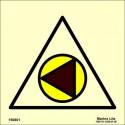 Señal IMO CIERRE REMOTO DE   BOMBAS DE COMBUSTIBLE (15x15cm) vinilo fotoluminiscente 156801