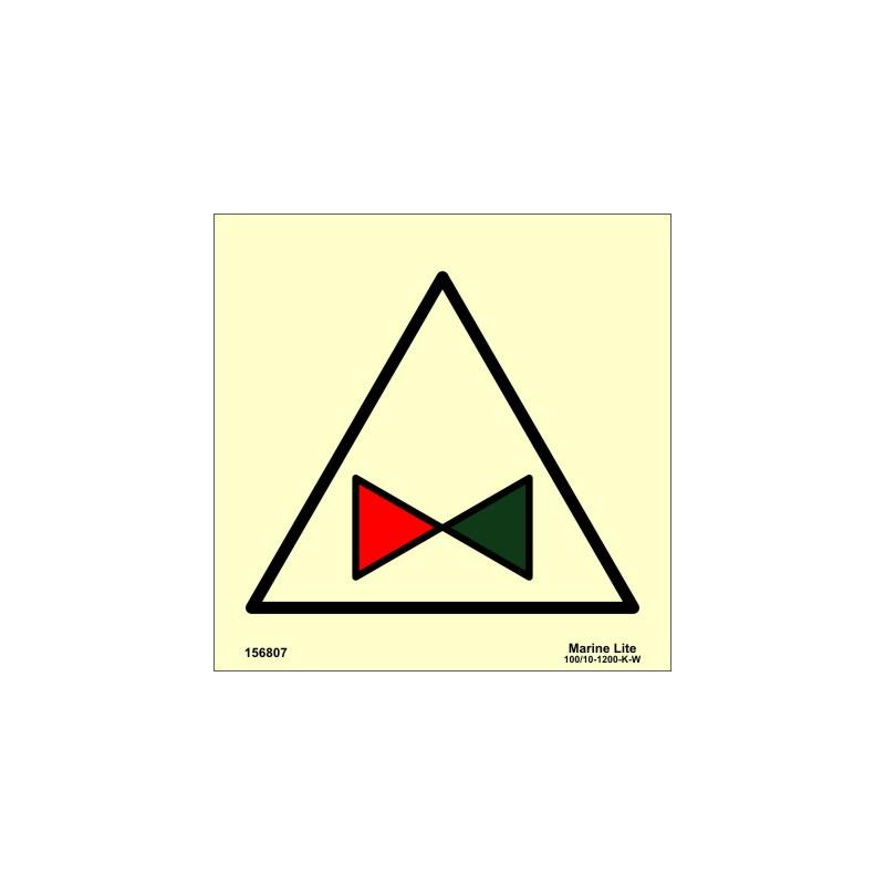 REMOTE CONTROL FIRE PUMP VALVE (15x15cm) Phot Vin  IMO sign 156807