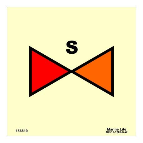 SPRINKLER SECTION VALVE  (15x15cm) Phot.Vin. IMO sign 156819 / SIS036