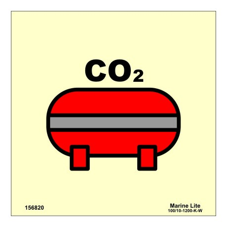 FIXED CO2 FIRE-EXTINGUISHING INSTALLATION  (15x15cm) Phot.Vin. IMO sign 156820