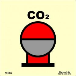 Señal IMO BOTELLAS DE CO2 EN ÁREA PROTEGIDA (15x15cm) vinilo fotoluminiscente 156832