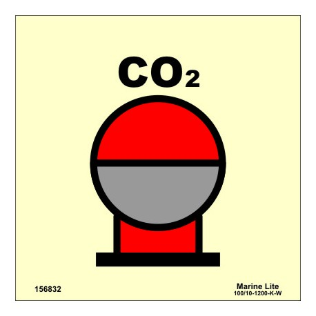 CO2 BOTTLES IN PROTECTED AREA  (15x15cm) Phot.Vin. IMO sign 156832