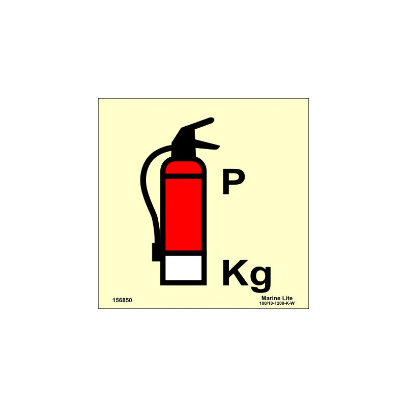 Powder Fire Extinguisher 15x15cm Phot Vin Imo Sign