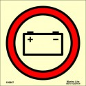 EMERGENCY SOURCE OF ELECTRIC POWER  (15x15cm) Phot.Vin. IMO sign 156867 / SIS049