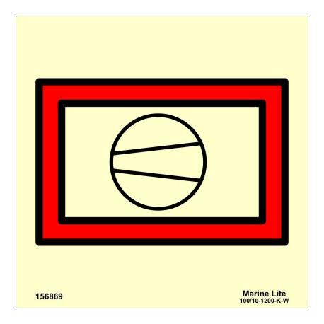 Señal IMO COMPRESOR DE AIRE (15x15cm) vinilo fotoluminiscente 156869 / SIS051