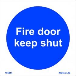 FIRE DOOR KEEP SHUT  (15x15cm) Phot.Vin. IMO sign 195814