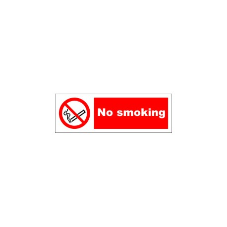 NO SMOKING  (10x30cm) Phot.Vin. IMO sign 208530 / PSS002