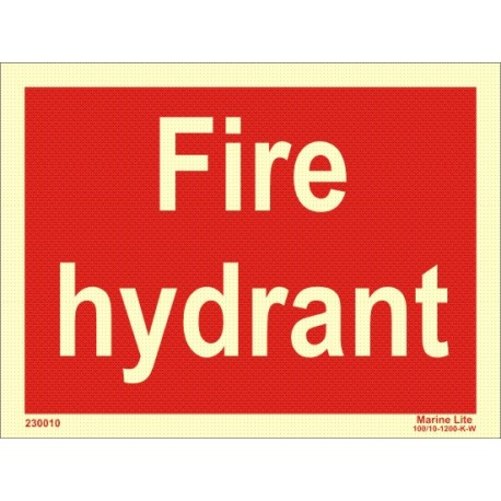 FIRE HYDRANT  (20x15cm) Phot.Vin. IMO sign 230010